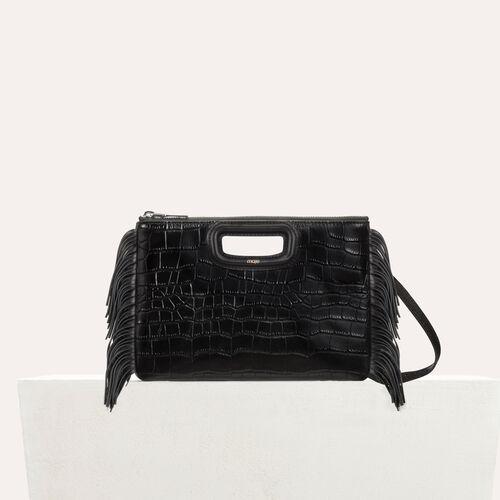 M Duo Clutch aus Krokodilleder : Leder farbe Schwarz