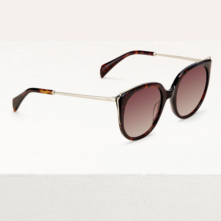 Sonnenbrille aus Metall und Acetat : Brillen farbe ECAILLE