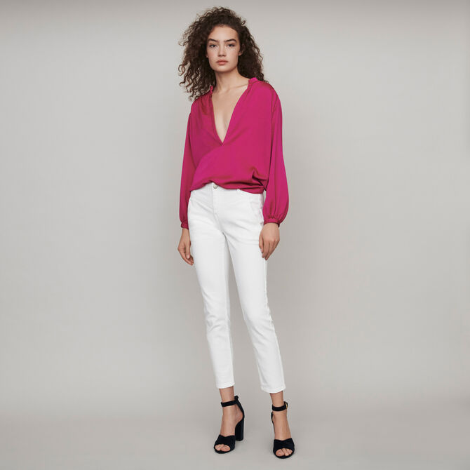 Gerade Jeans mit Cut-Outs -  - MAJE
