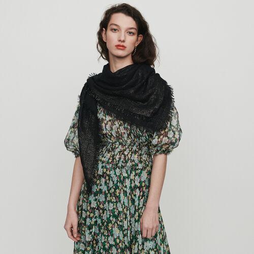 Schal mit M Motif aus Lurex : Schals & Ponchos farbe  Off-White