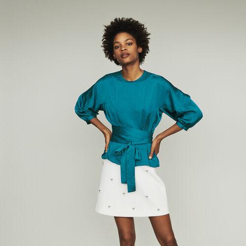 Top zum Binden : Tops & Hemden farbe Blau