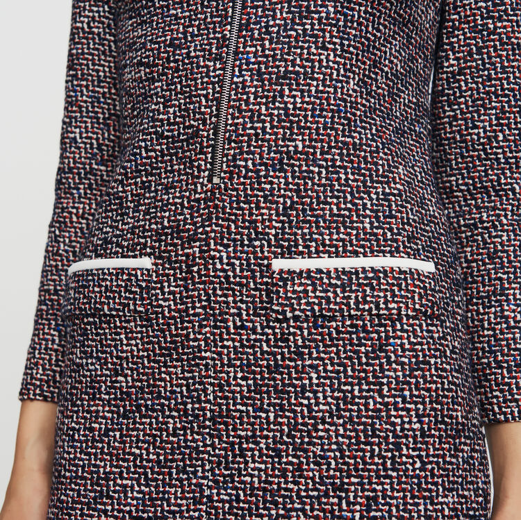 Hemd-Kleid aus Tweed : Kleider farbe Jacquard