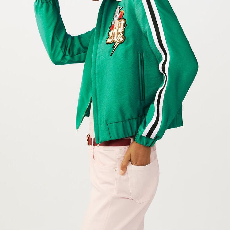 Mehrfarbige Bomberjacke : Jacken farbe Grün