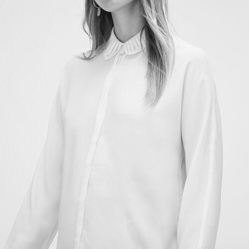 Bluse aus Seidengemisch : Tops farbe Weiss