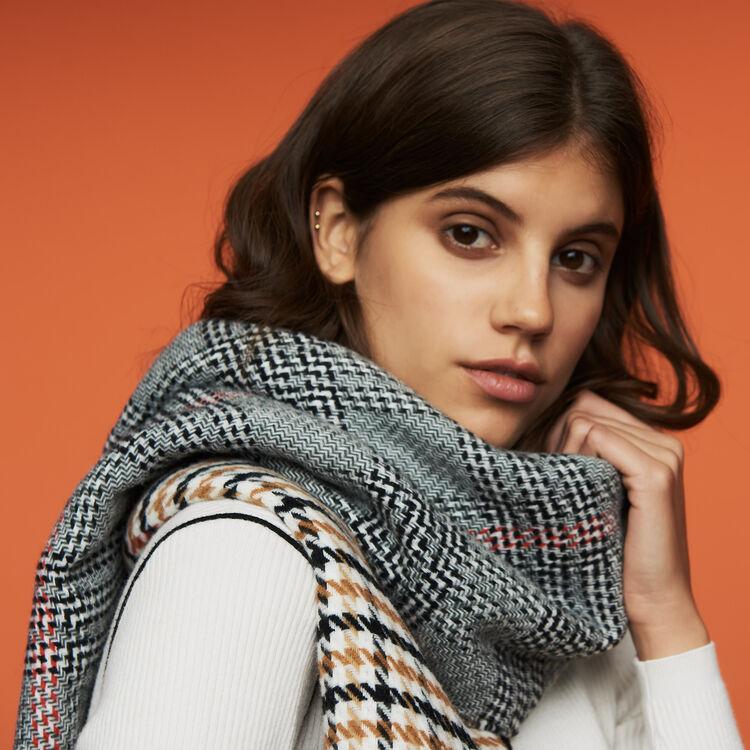 Strickschal mit Karo-Mix : Schals & Ponchos farbe Mehrfarbigen