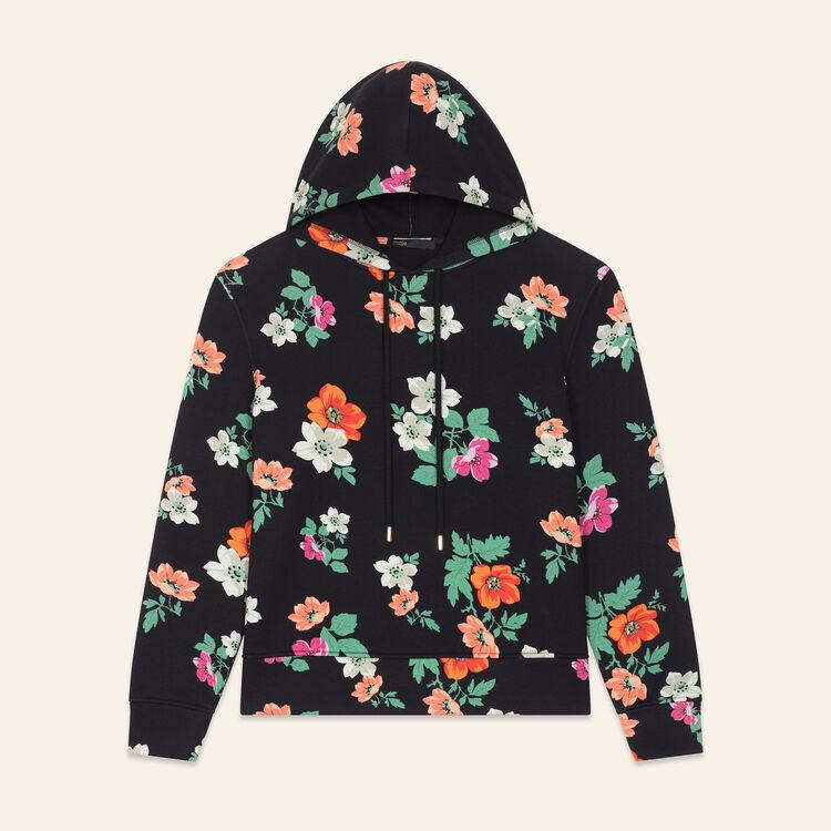 Kapuzensweatshirt mit Aufdruck : Pulls & Cardigans farbe IMPRIME