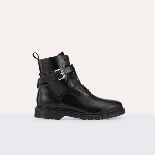 Bota alta de piel - Schuhe - MAJE