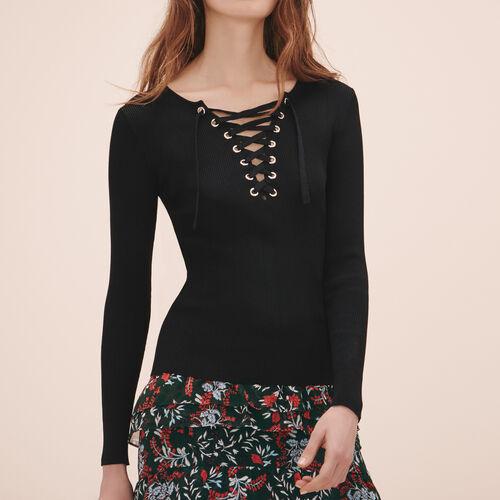 Pullover aus maschenfestem Strick : Alles einsehen farbe Schwarz