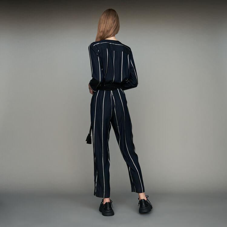 Gestreifter Hosen-Overall : Bekleidung farbe Marineblau