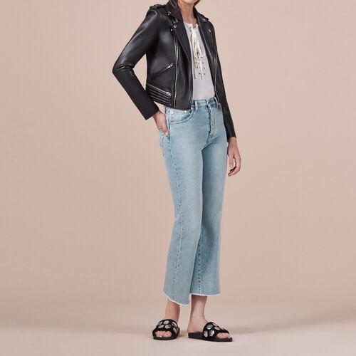 Ausgestellte Jeans aus Baumwolle : Hosen und Jeans farbe Blau