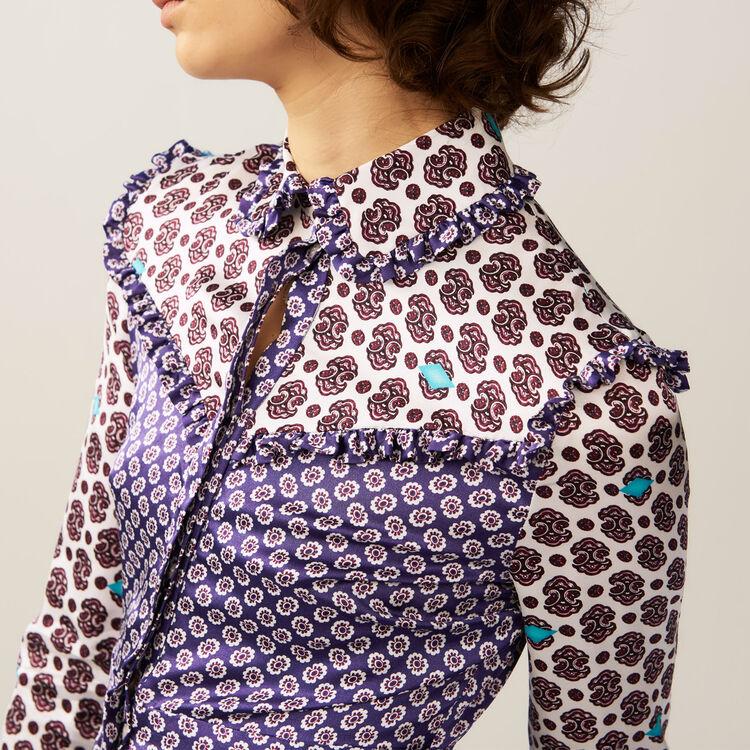 Satinkleid mit verschiedenen Prints : Kleider farbe IMPRIME