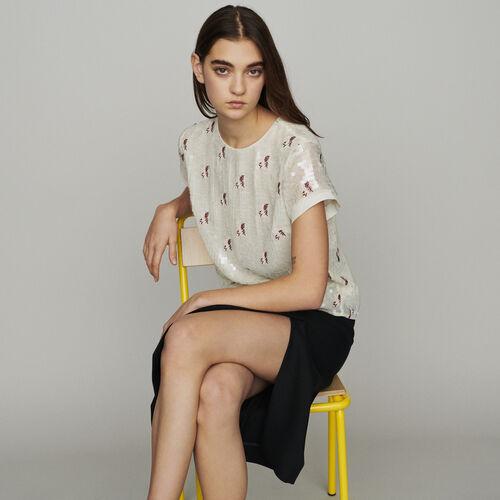 Paillettentop : Tops & Hemden farbe ECRU