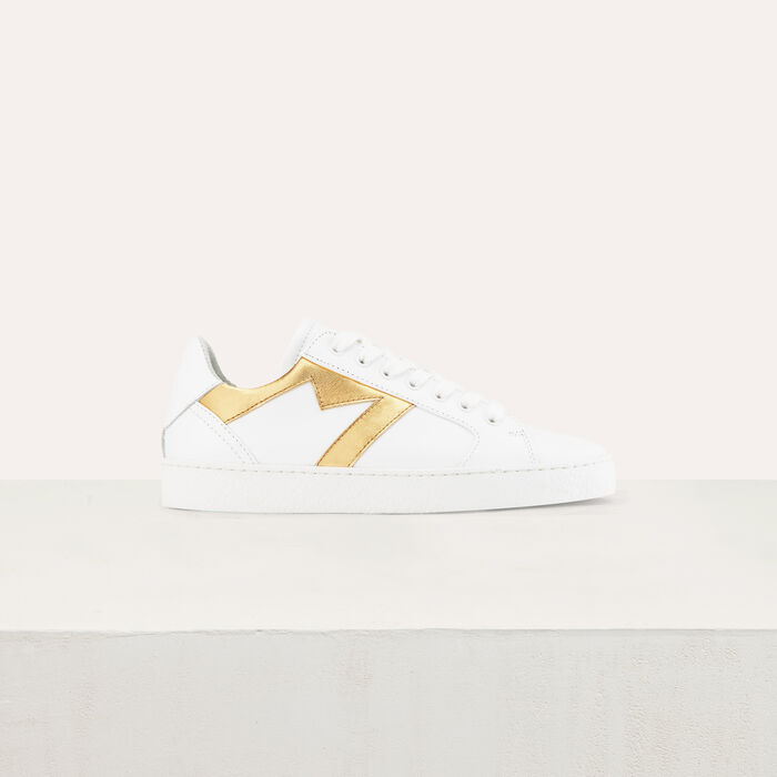 Ledersneakers  M-Ausschnitt : Schuhe farbe Gold