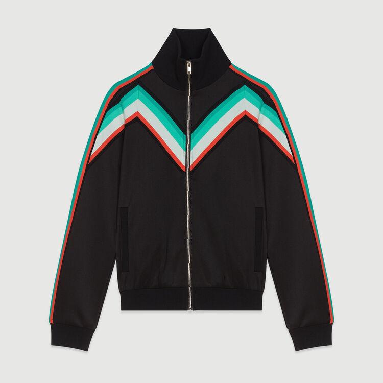 Sportjacke mit Reißverschluss : Blazers farbe Schwarz