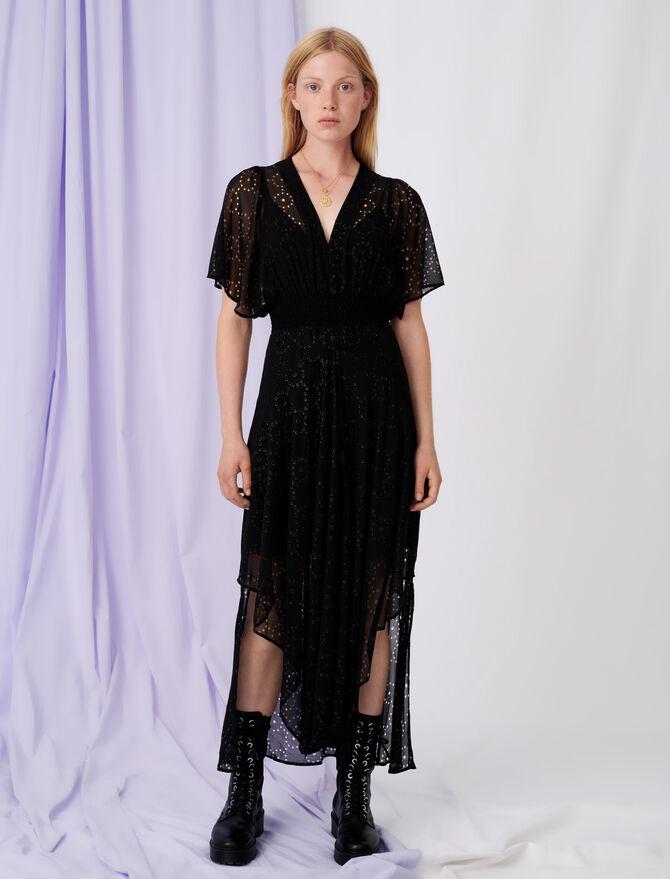 Kleid aus Musselin, durchbrochen - Kleider - MAJE