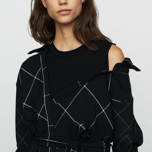 Asymmetrisches Hemdkleid mit Karos : Bekleidung farbe CARREAUX