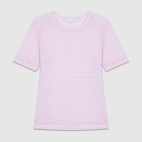 Linen t-shirt : T-Shirts farbe LILAS