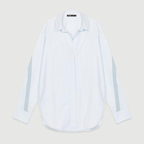 Oversize-Hemd mit Grosgrain : Hemden farbe Himmelblau