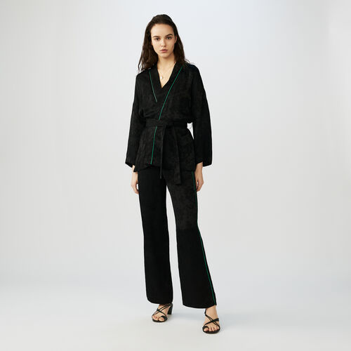 Kimono jacket with belt : Blazers farbe Schwarz