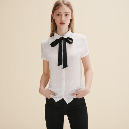 Hemd mit Krawattenschal - Tops - MAJE
