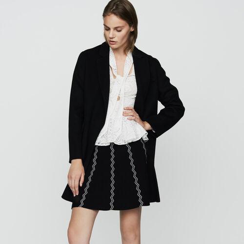 Doppelseitiger Wollmantel : Mäntel farbe Schwarz
