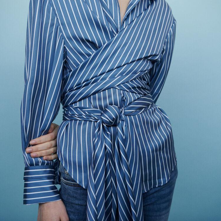 Cache-Coeur Bluse mit Streifen : Tops & Hemden farbe Gestreift