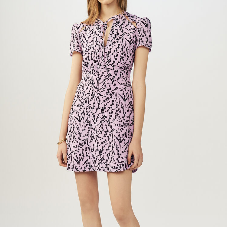 Rüschenkleid mit kontrastierenden : Kleider farbe IMPRIME