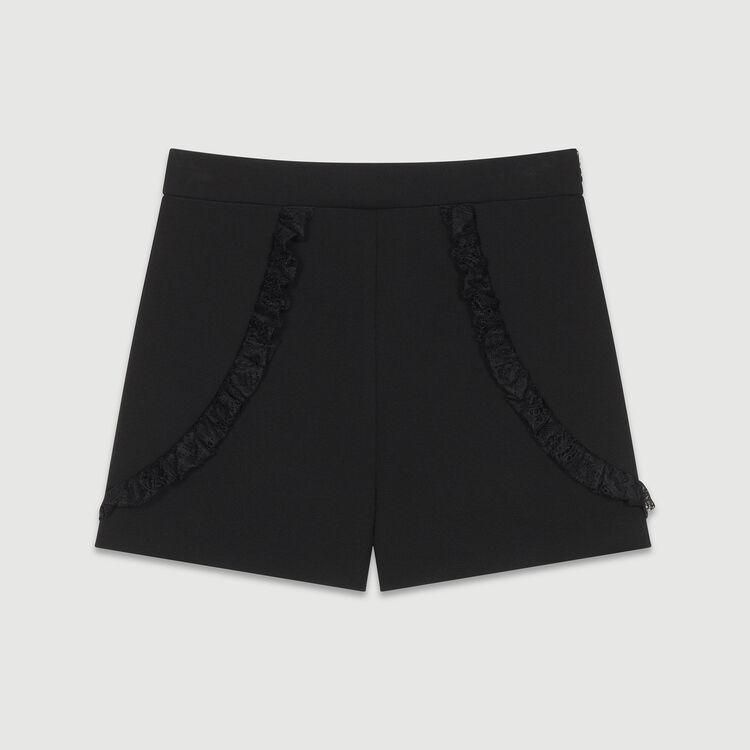 Short mit Spitzendetails : Röcke & Shorts farbe Schwarz
