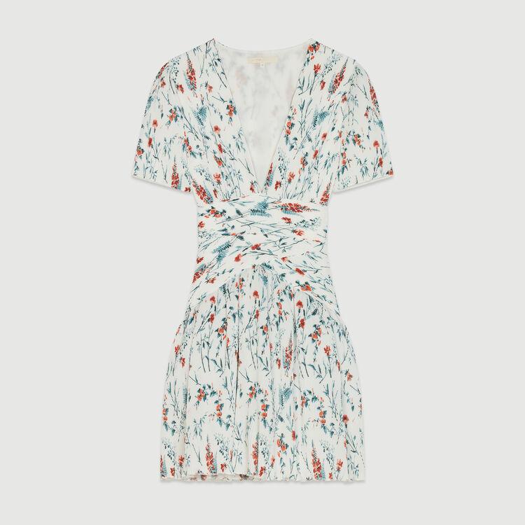 Ein kurzes Plissee-Kleid : Kleider farbe IMPRIME