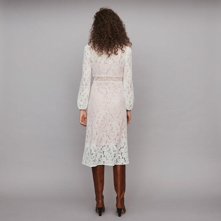 Guipure Kleid mit Kaschmir Motiven : Kleider farbe Ecru