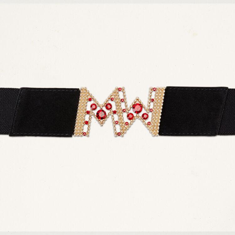 Breiter elastischer Gürtel : Accessoires farbe Schwarz