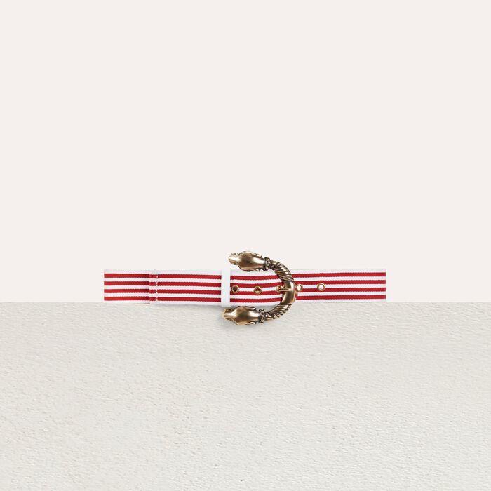 Striped belt : Gürtel farbe Rot