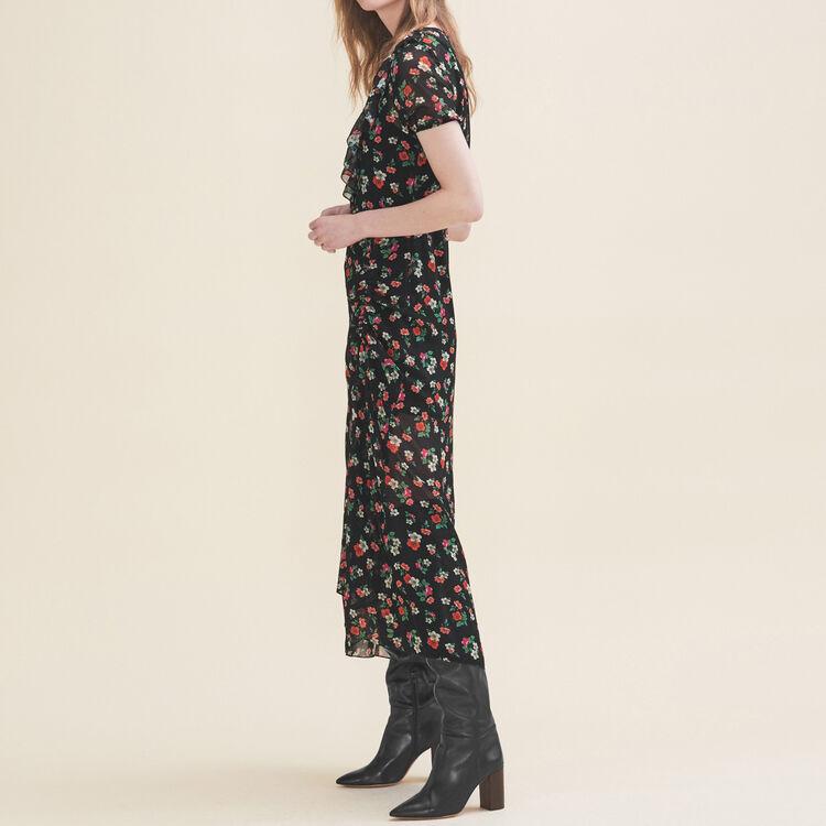 Langes Kleid mit Print : Kleider farbe Print