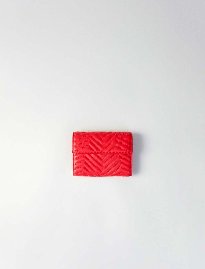 Geldbörse aus gestepptem Leder -  - MAJE