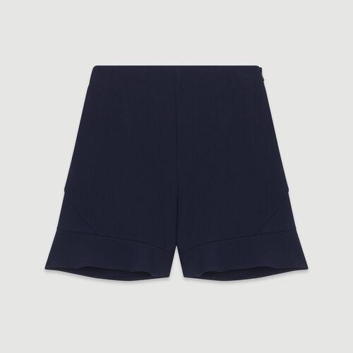 Shorts mit Volant : Röcke & Shorts farbe Marineblau