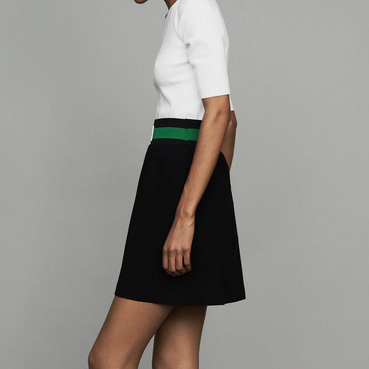 Kurzer Krepp-Rock : Röcke & Shorts farbe Schwarz