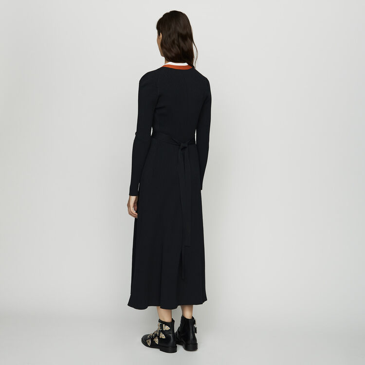 Strick-Wickelkleid : Alles einsehen farbe Schwarz