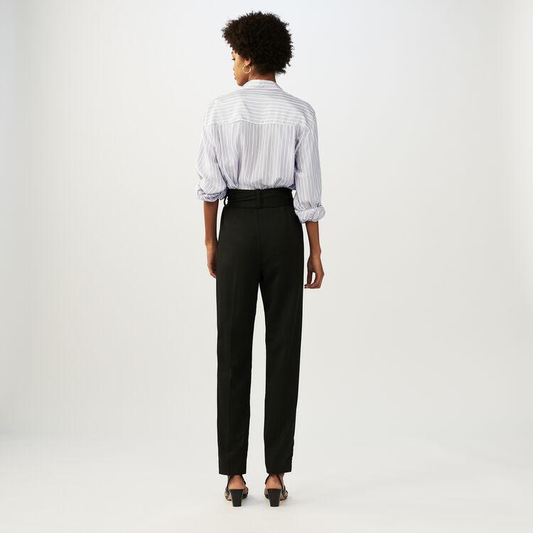 Karottenhose mit Gürtel : Hosen farbe Schwarz