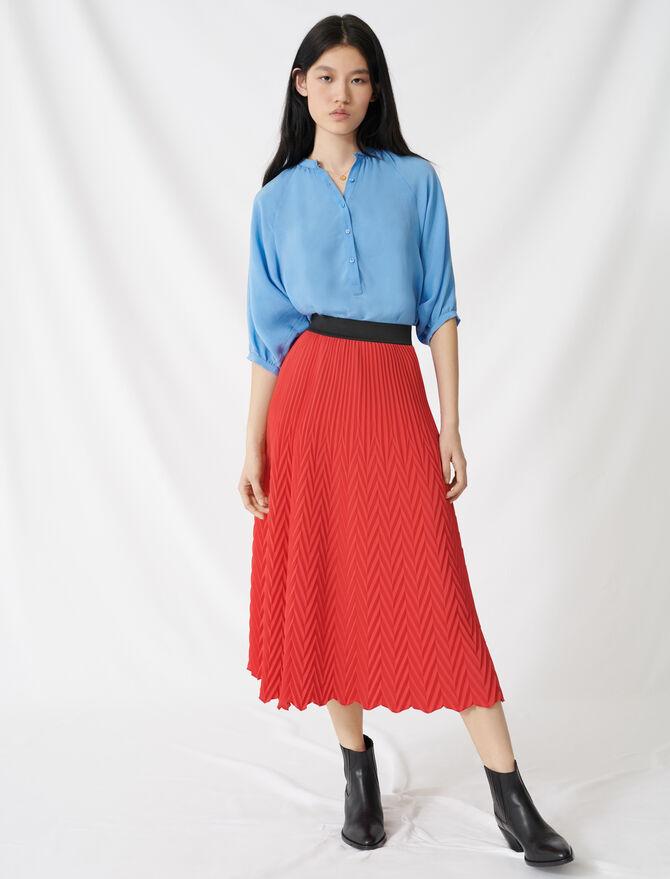 Jupe longue à plissé chevron - Röcke & Shorts - MAJE