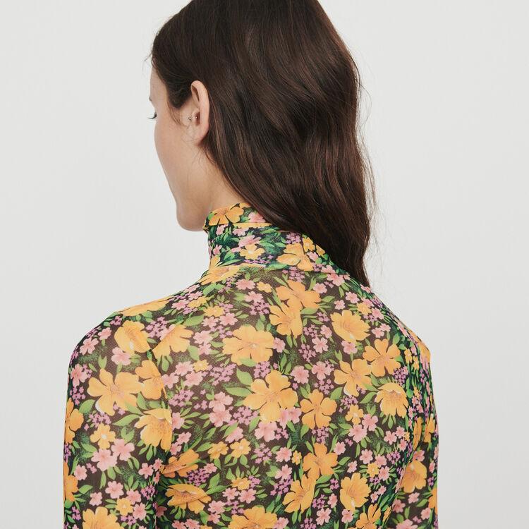 T-Shirt mit Rollkragen und Print : T-Shirts farbe Gelb