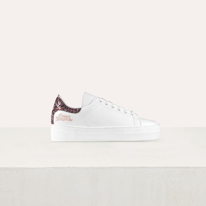 Leder-Sneakers mit Pailletten - Schuhe - MAJE