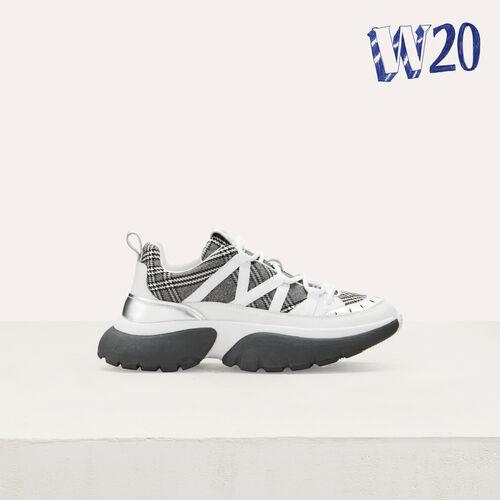 W20 Urban karrierte Sneakers : Sneakers farbe Mehrfarbigen