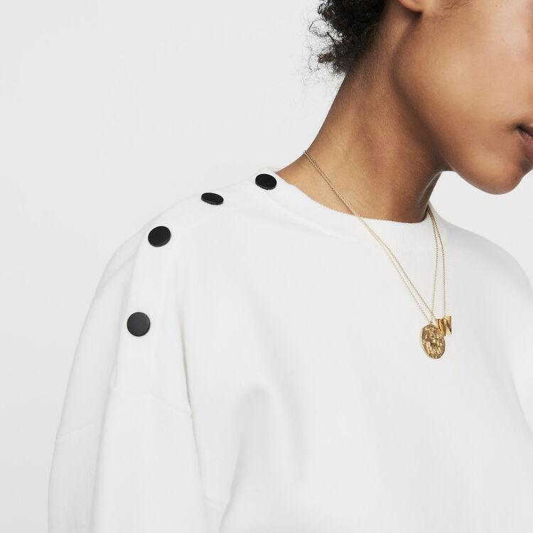 Pullover mit Schulterknöpfen : Strickwaren farbe ECRU
