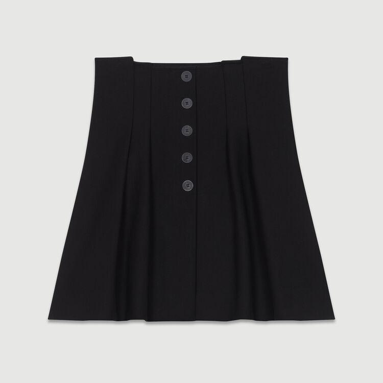 Kurzer Faltenrock : Neue Kollektion farbe Schwarz