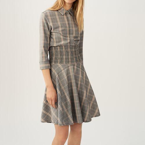 Kleid mit Karomuster - Pre-Kollektion - MAJE