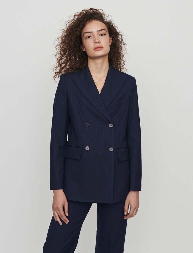 Doppelt-geknöpfte Jacke mit Streifen - Blazers - MAJE