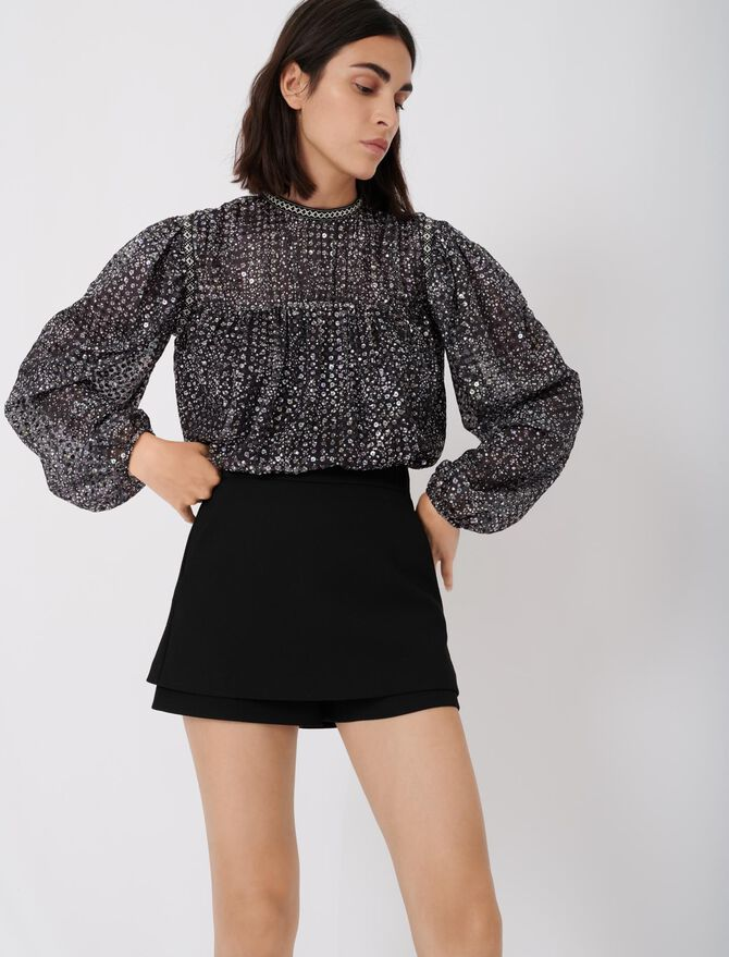 Short-jupe en crêpe - Röcke & Shorts - MAJE