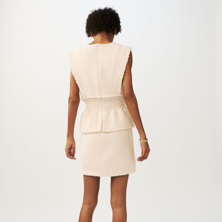Ärmelloses Tweedkleid : Kleider farbe Ecru