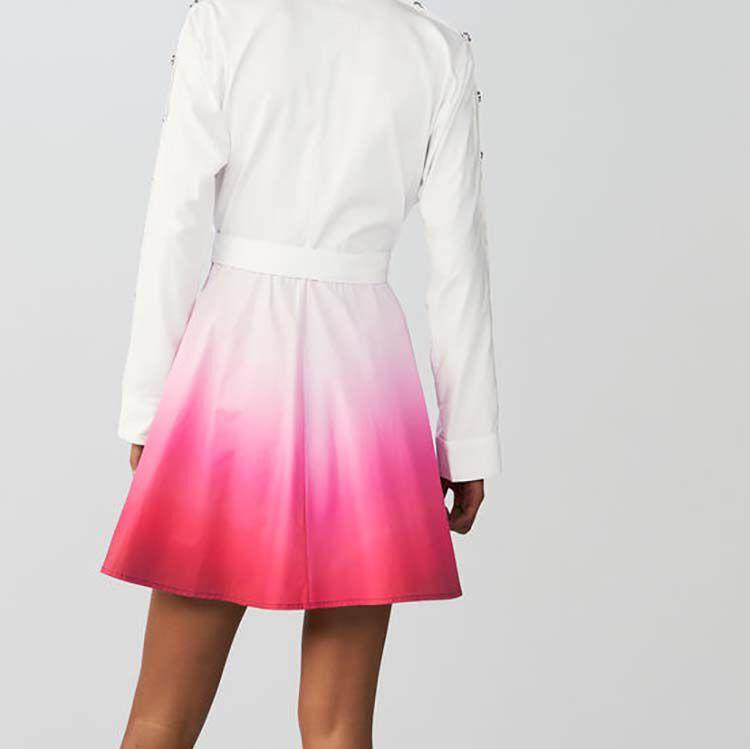 Tie-Dye-Hemdkleid : Kleider farbe Zweifarbig