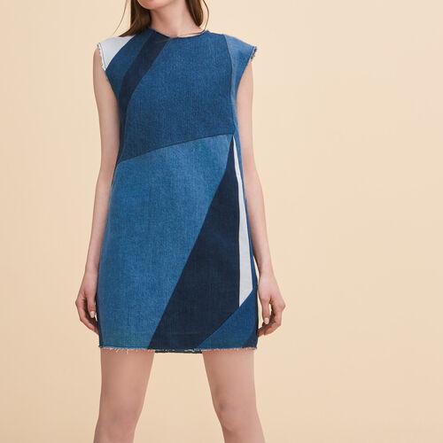 Jeanskleid in Hängerform : Kleider farbe Blau